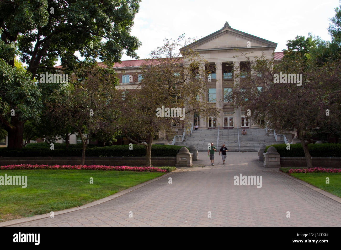 Buildings on the Purdue University campus in West Lafayette, Indiana. - Stock Image
