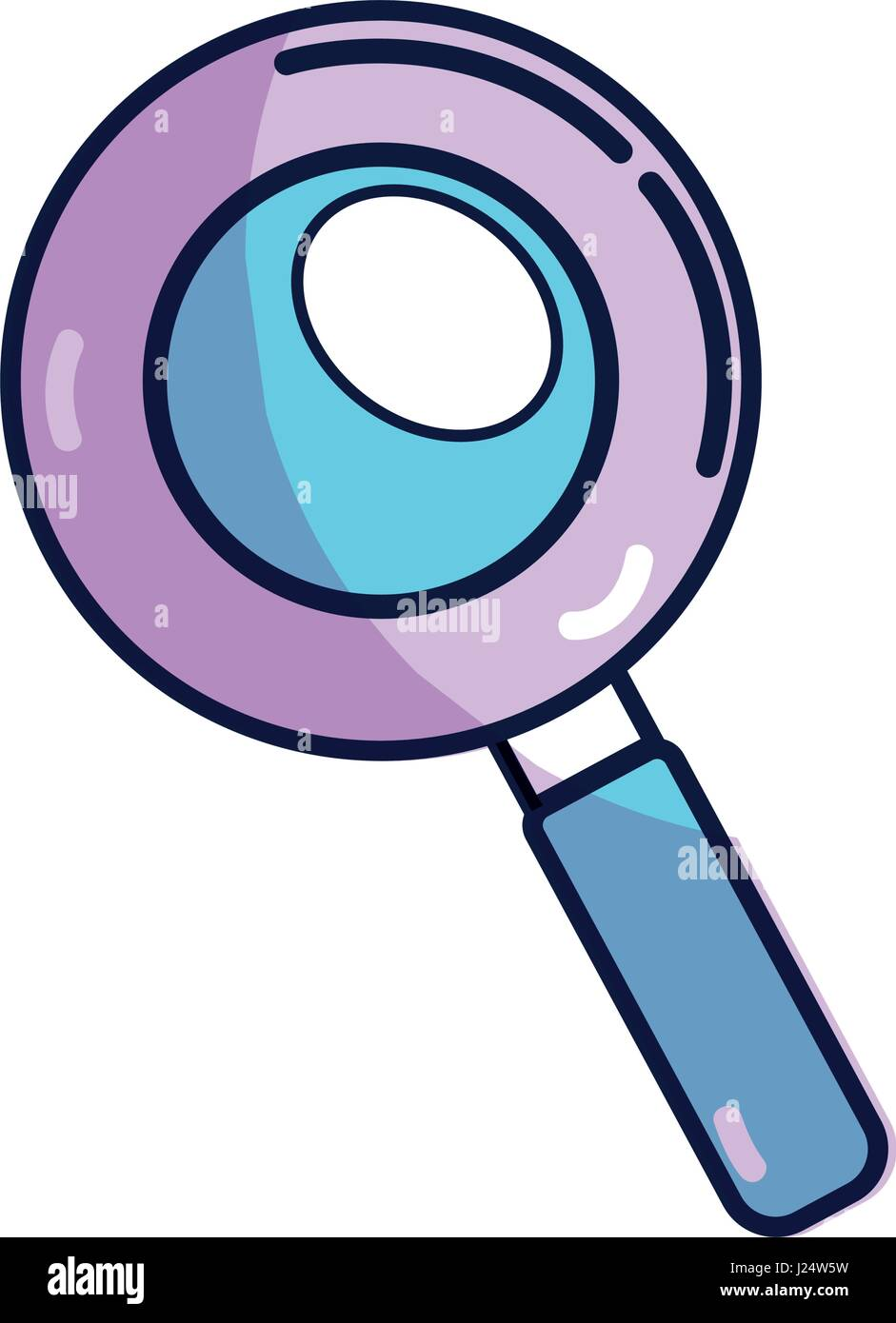 magnifying optical search tool - Stock Vector