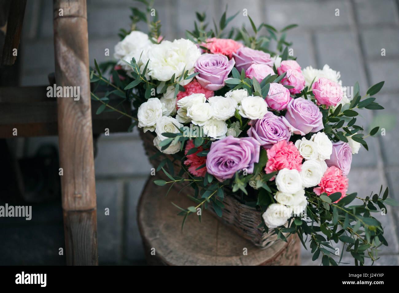 Wedding Decor Beautiful Flower Composition Of Fresh Flowers