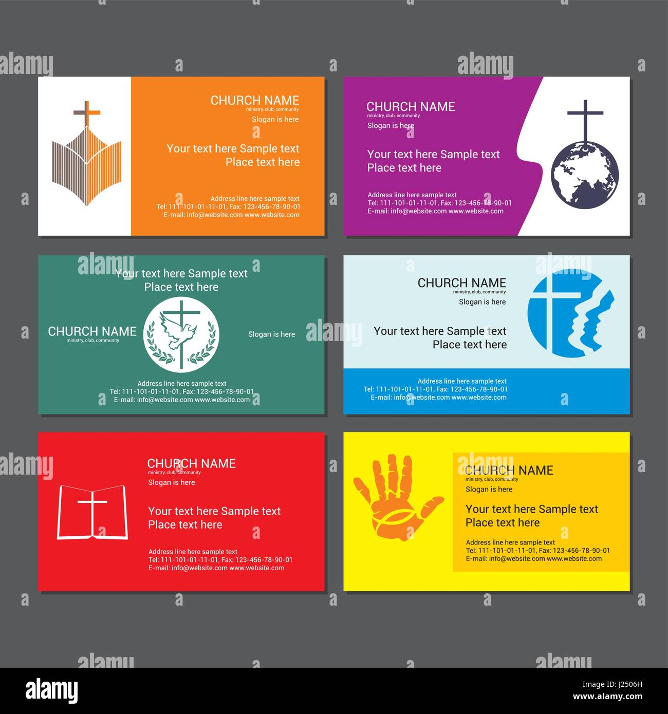 set christian business cards for the church - Christian Business Cards