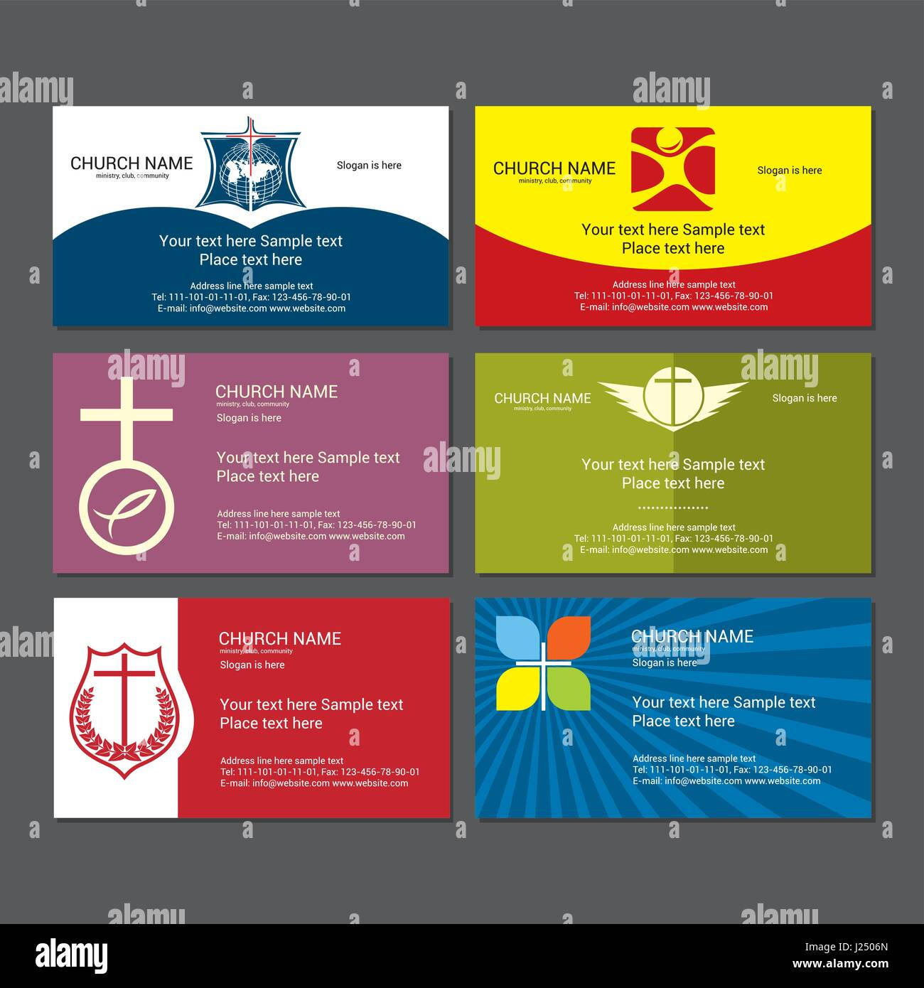 Set christian business cards for the church Stock Vector Art ...