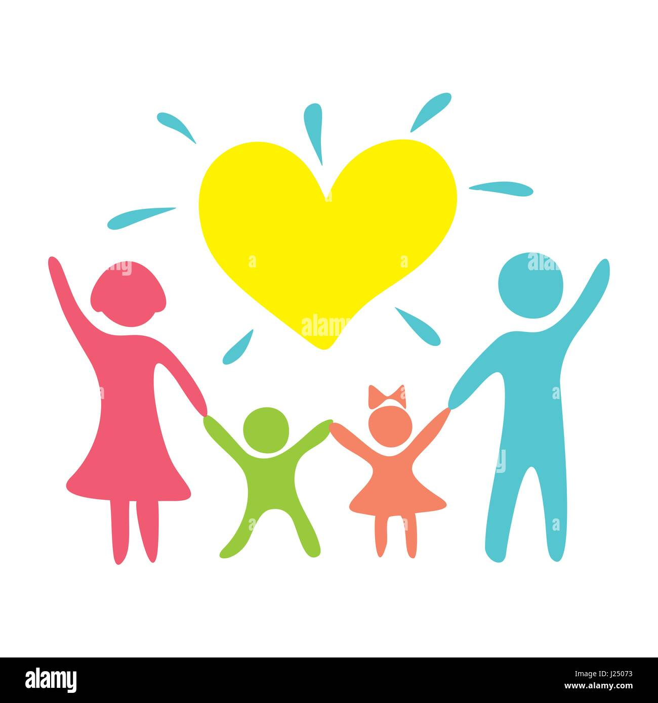Love Each Other Religious: A Happy Christian Family Based On Love For Each Other And