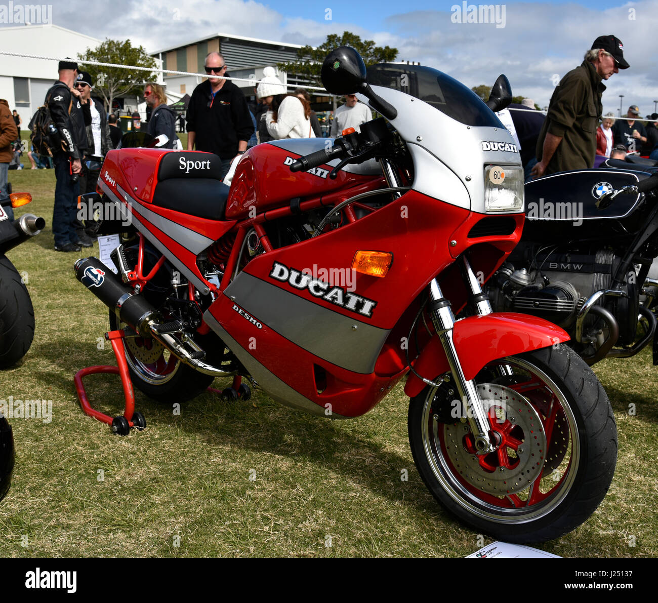 Desmo Stock Photos Images Alamy Ducati 750 Sport Wiring Diagram In Silver And Red Image