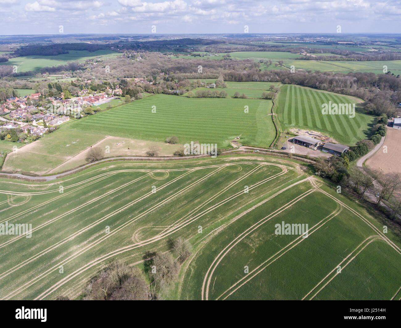 Aerial Photography UK Stock Photo