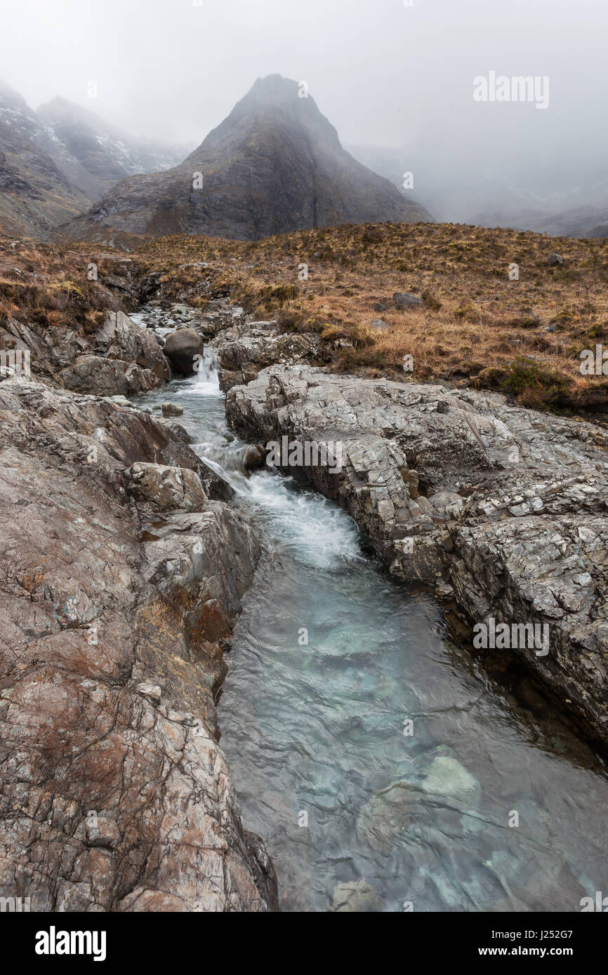 A stream by Fairy Pools - Stock Image