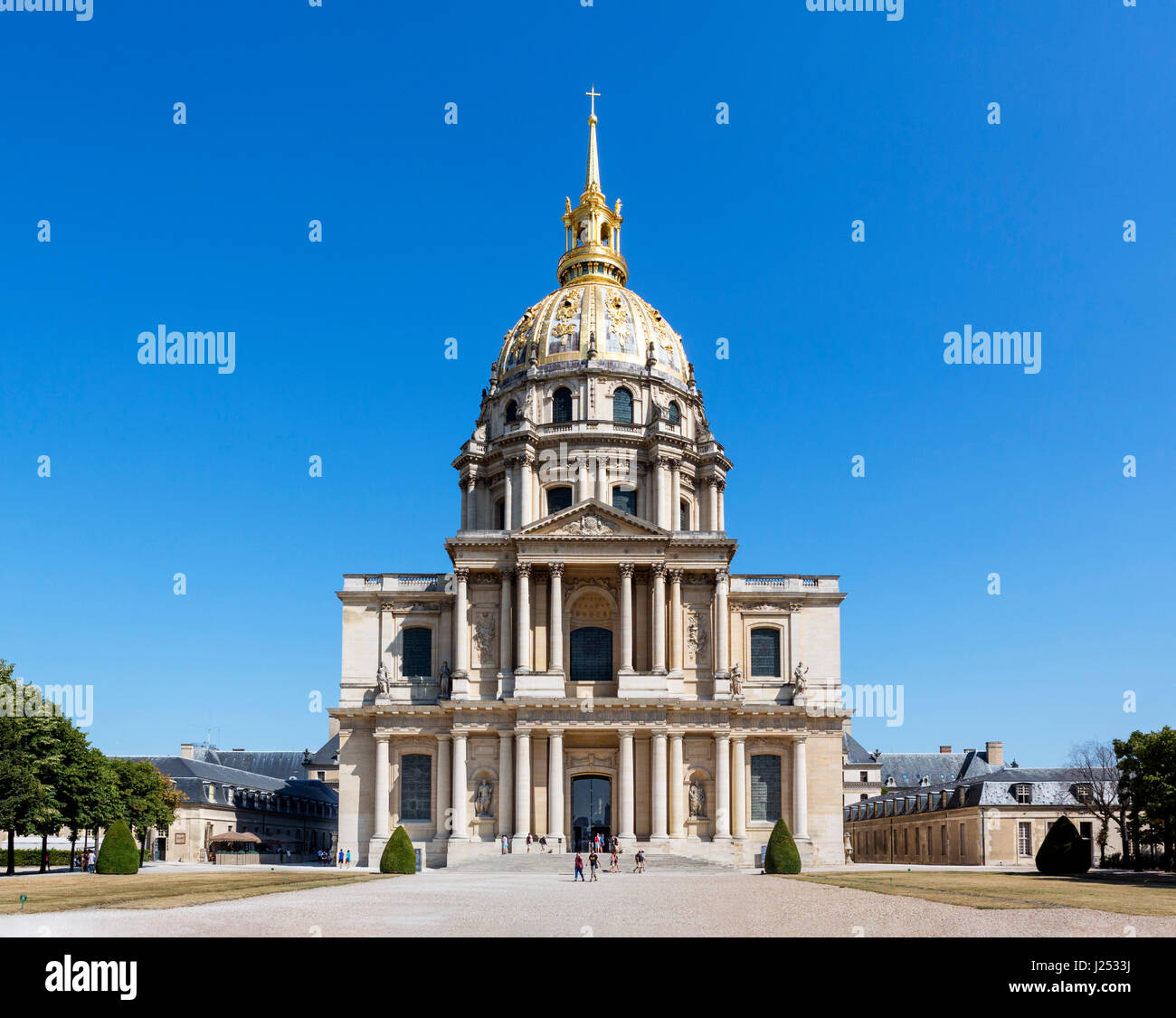 Dome des Invalides at Les Invalides, Paris, France - Stock Image