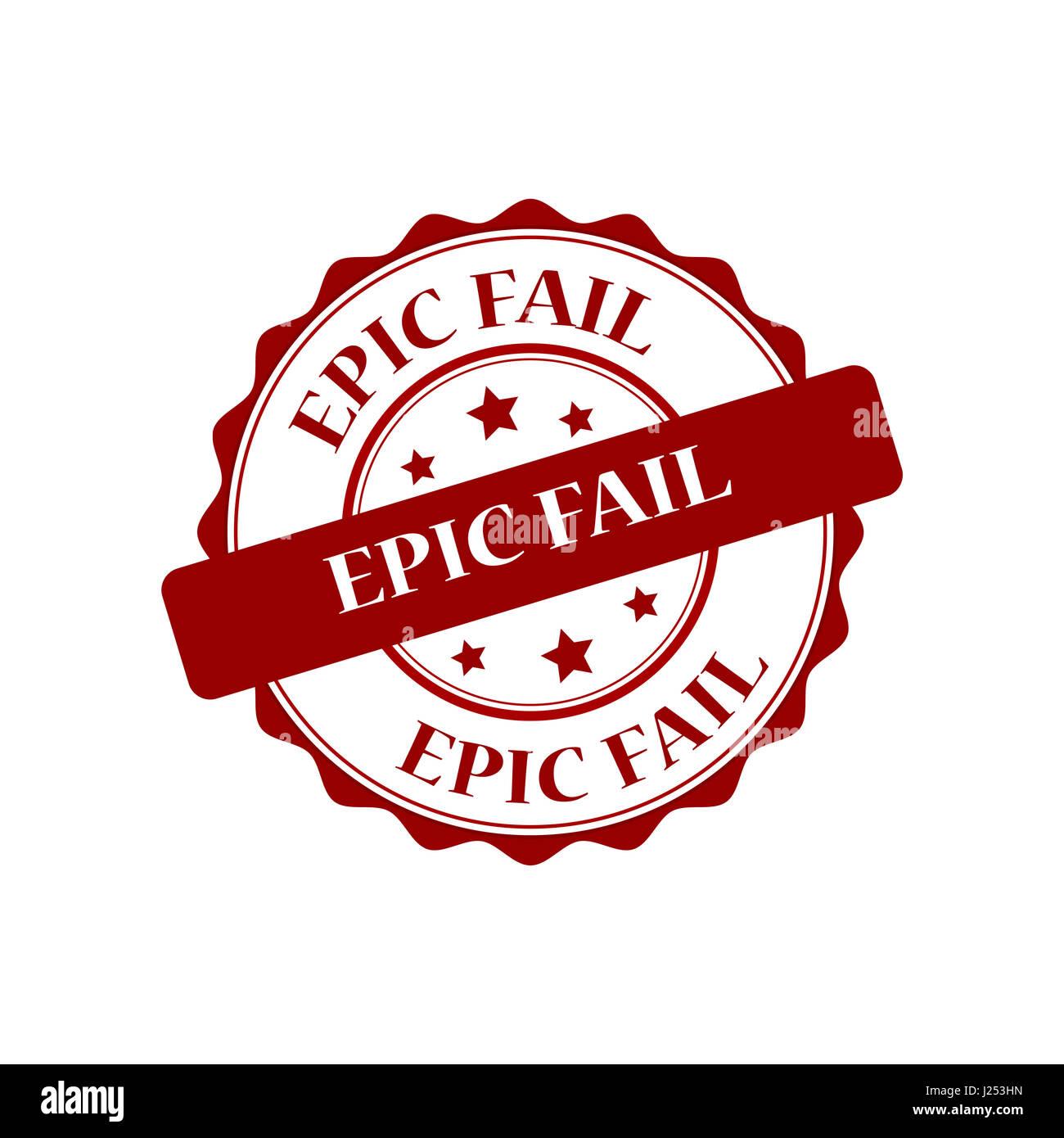 Epic fail stamp illustration - Stock Image