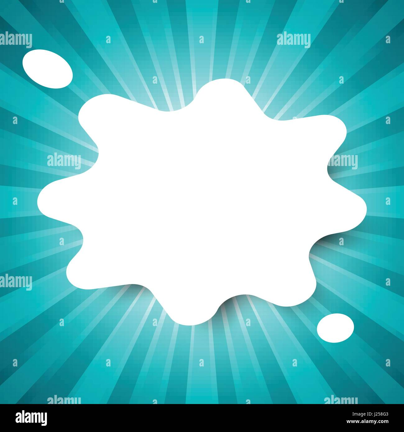 white water drop template on green abstract background with start