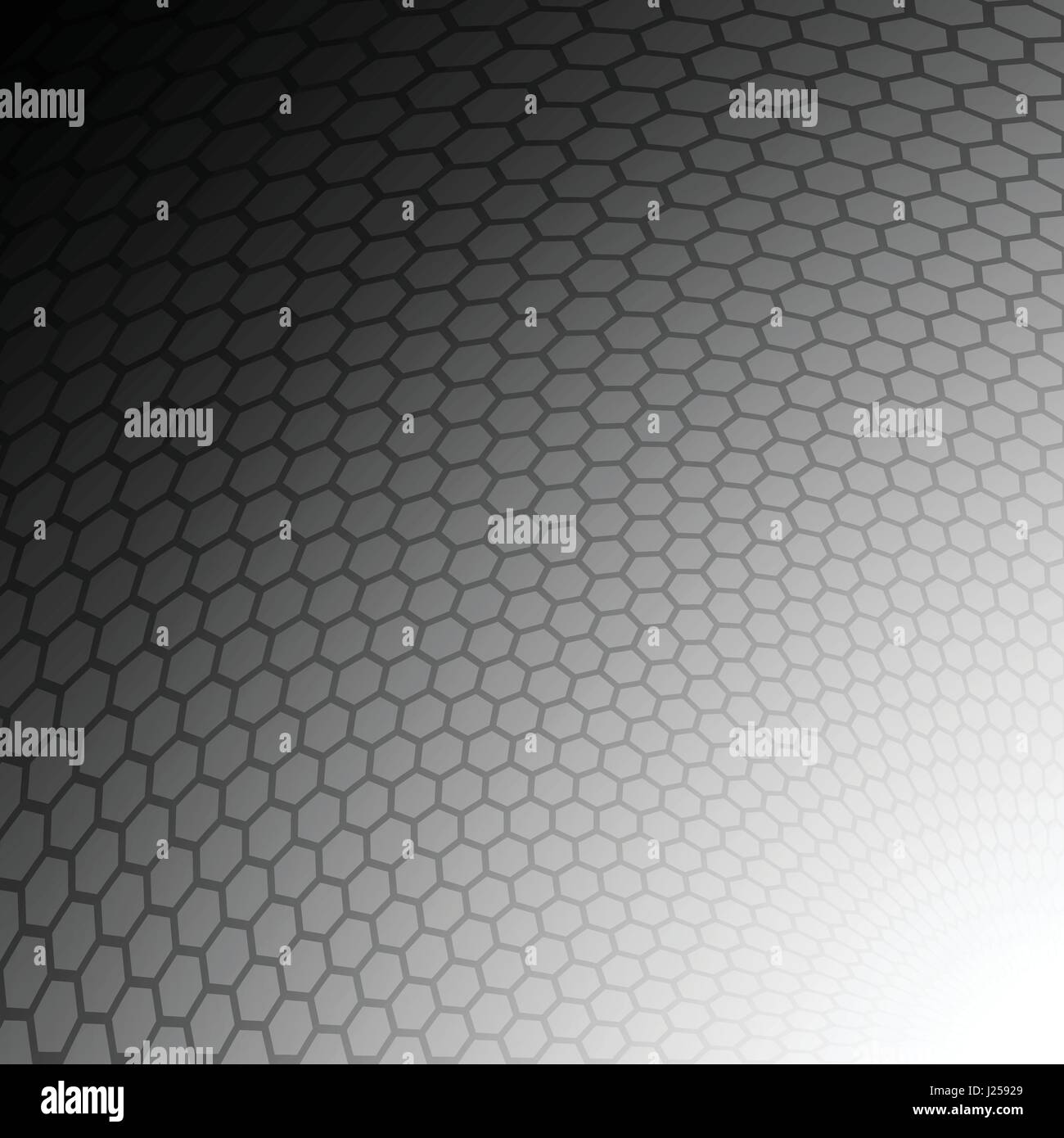Grey hexagon wave curve abstract pattern background concept - Stock Image
