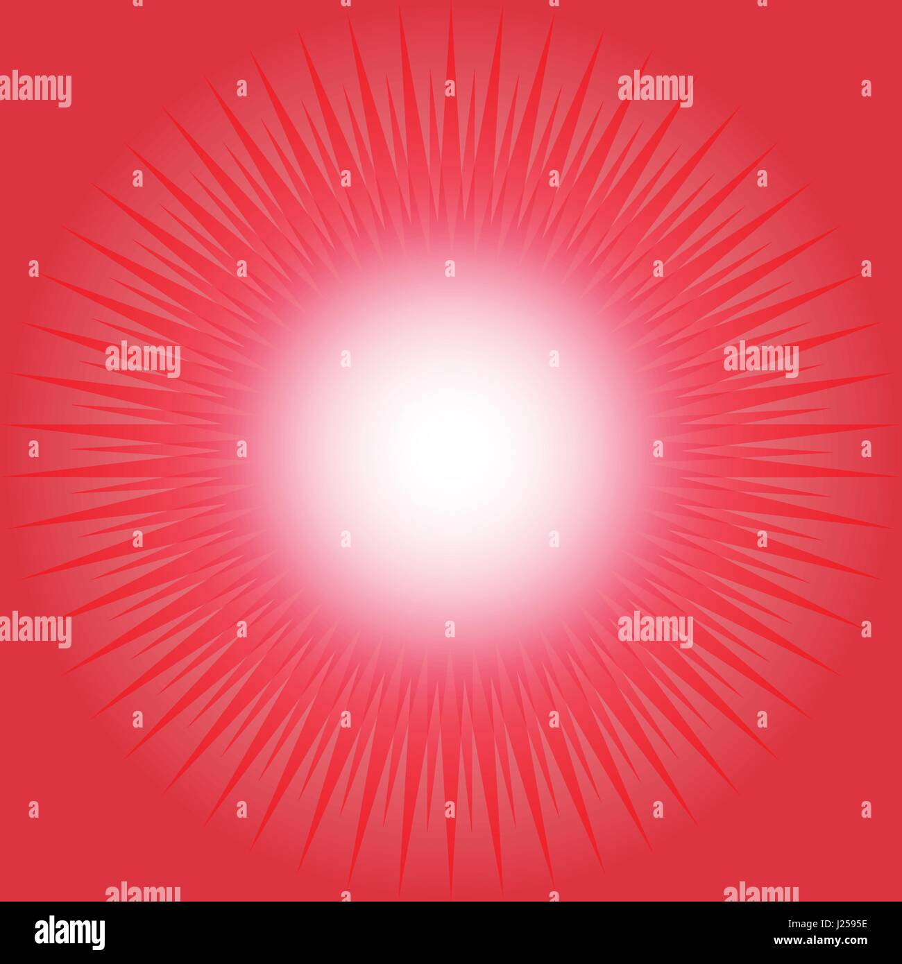 Red abstract background with star burst concept - Stock Image