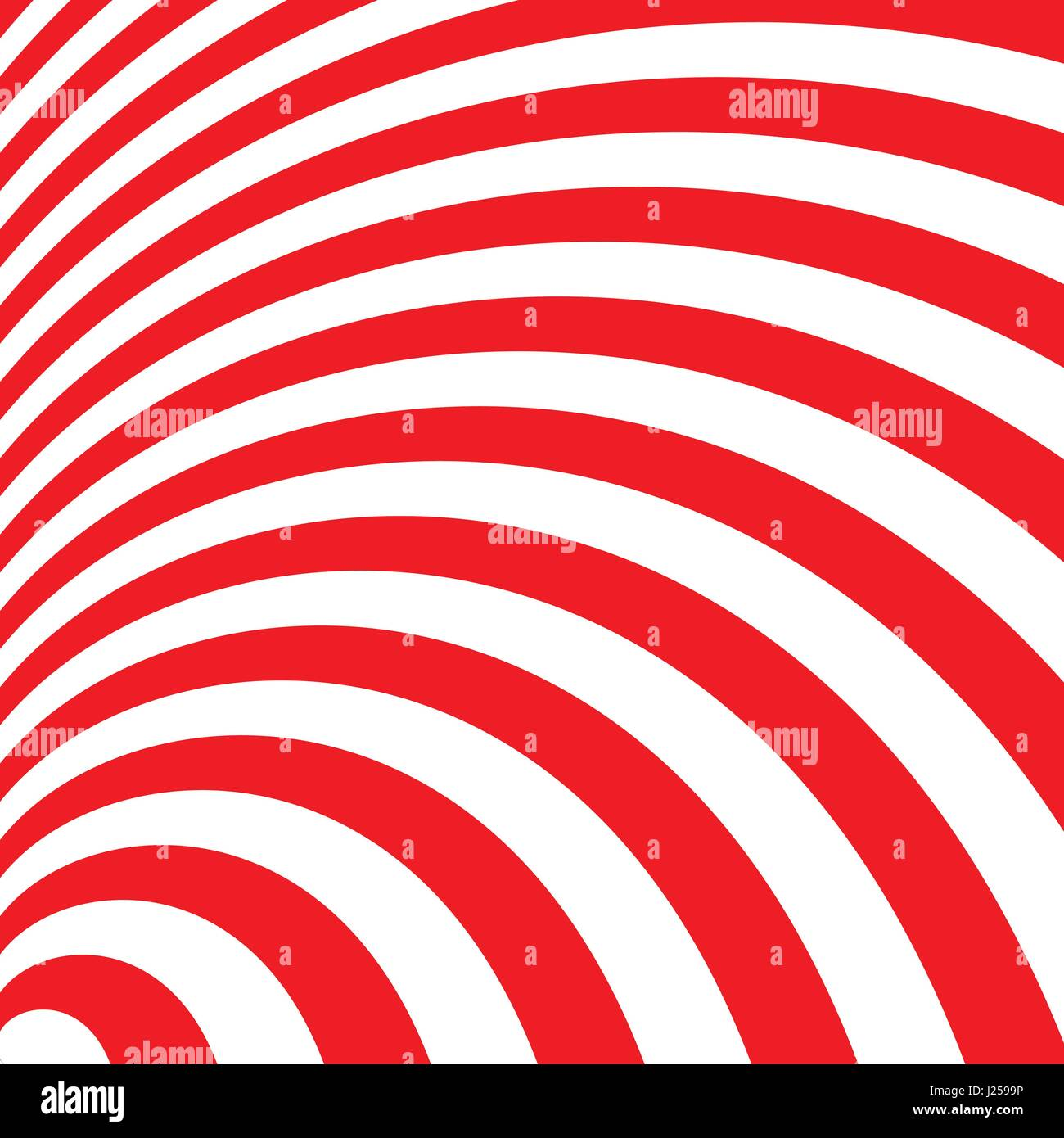 Two tone red stripes curve abstract background concept - Stock Image
