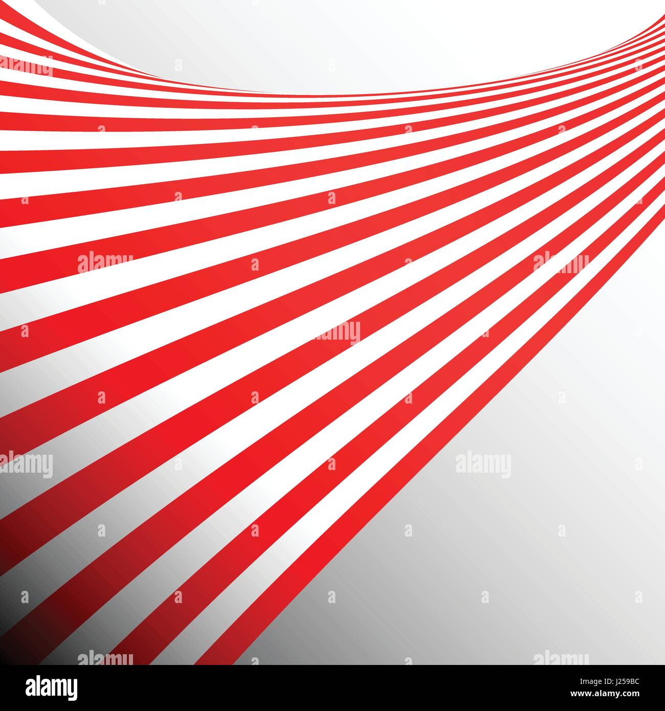 Two tone red stripes ribbon abstract background concept - Stock Image