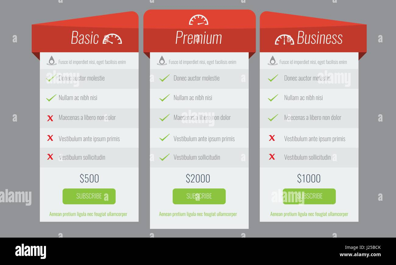 trendy price list and offer columns flat vector for your design