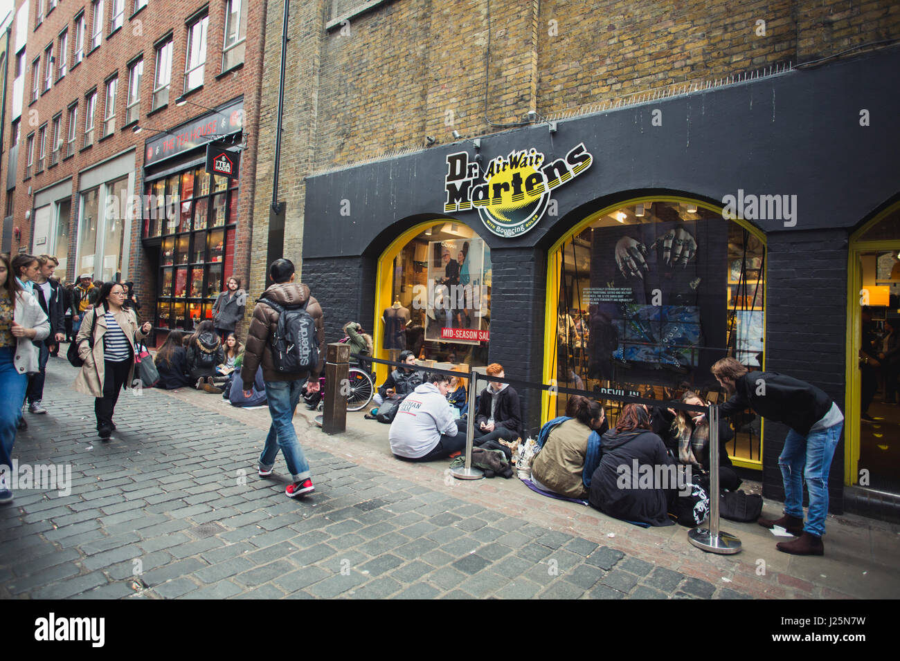 2385d52eb3f1a0 Queue outside Dr. Martens store in Covent Garden, central London ...