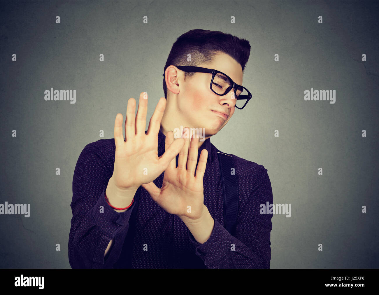 Disgusted young man - Stock Image