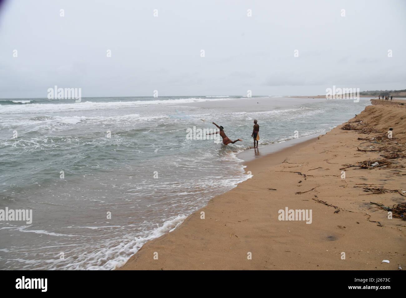 Fishing on the sea Puri, Orissa, India, Stock Photo