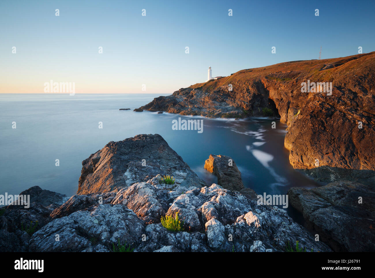 Trevose Head. Cornwall. UK. - Stock Image