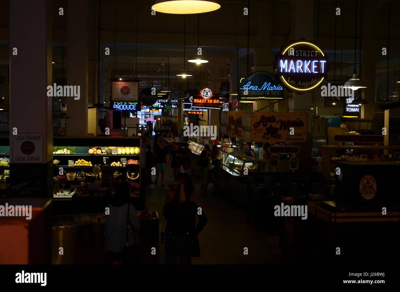 Grand Central Market, Downtown LA - Stock Image