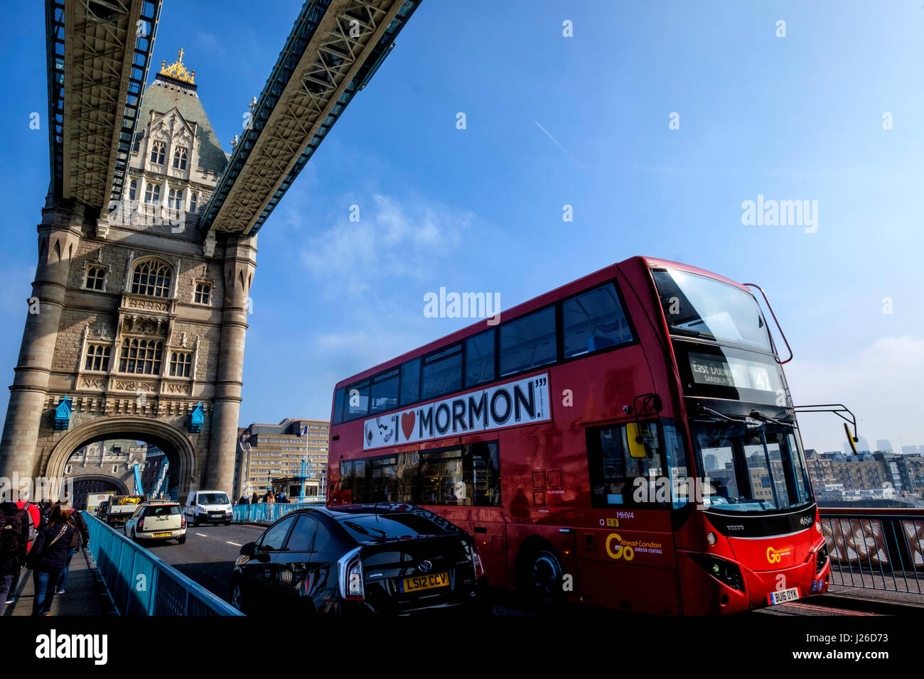 Tower Bridge, London, England, United Kingdom, Europe - Stock Image