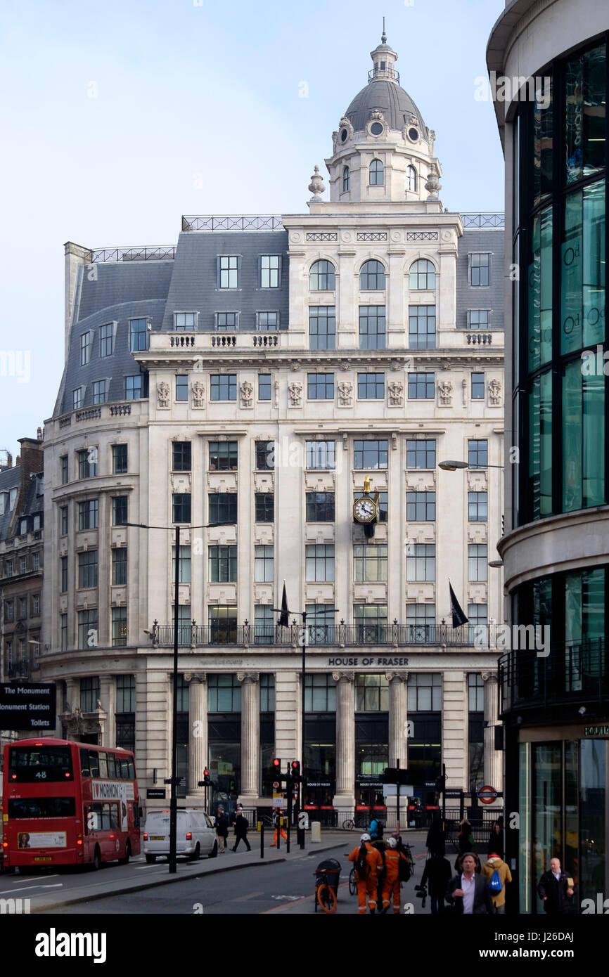 House of Fraser department store, City London, London, England, UK, Europe - Stock Image