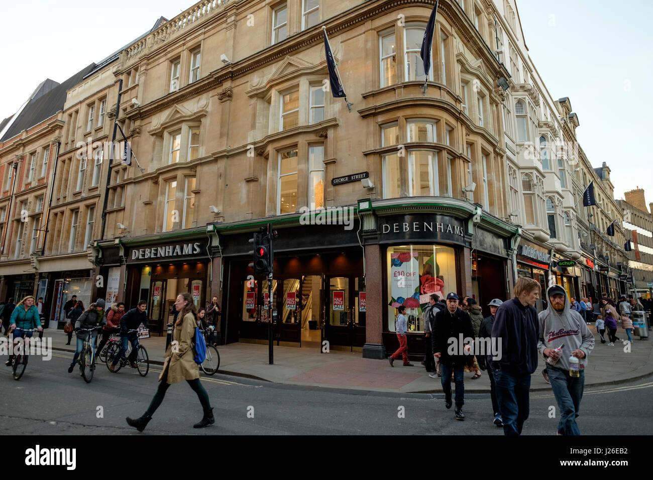 Debenhams store in Oxford, Oxfordshire, England, United Kingdom - Stock Image