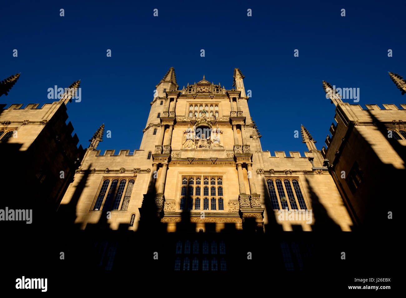 Tower of Five Orders at Bodleian Library, Oxford, Oxfordshire, England, United Kingdom - Stock Image