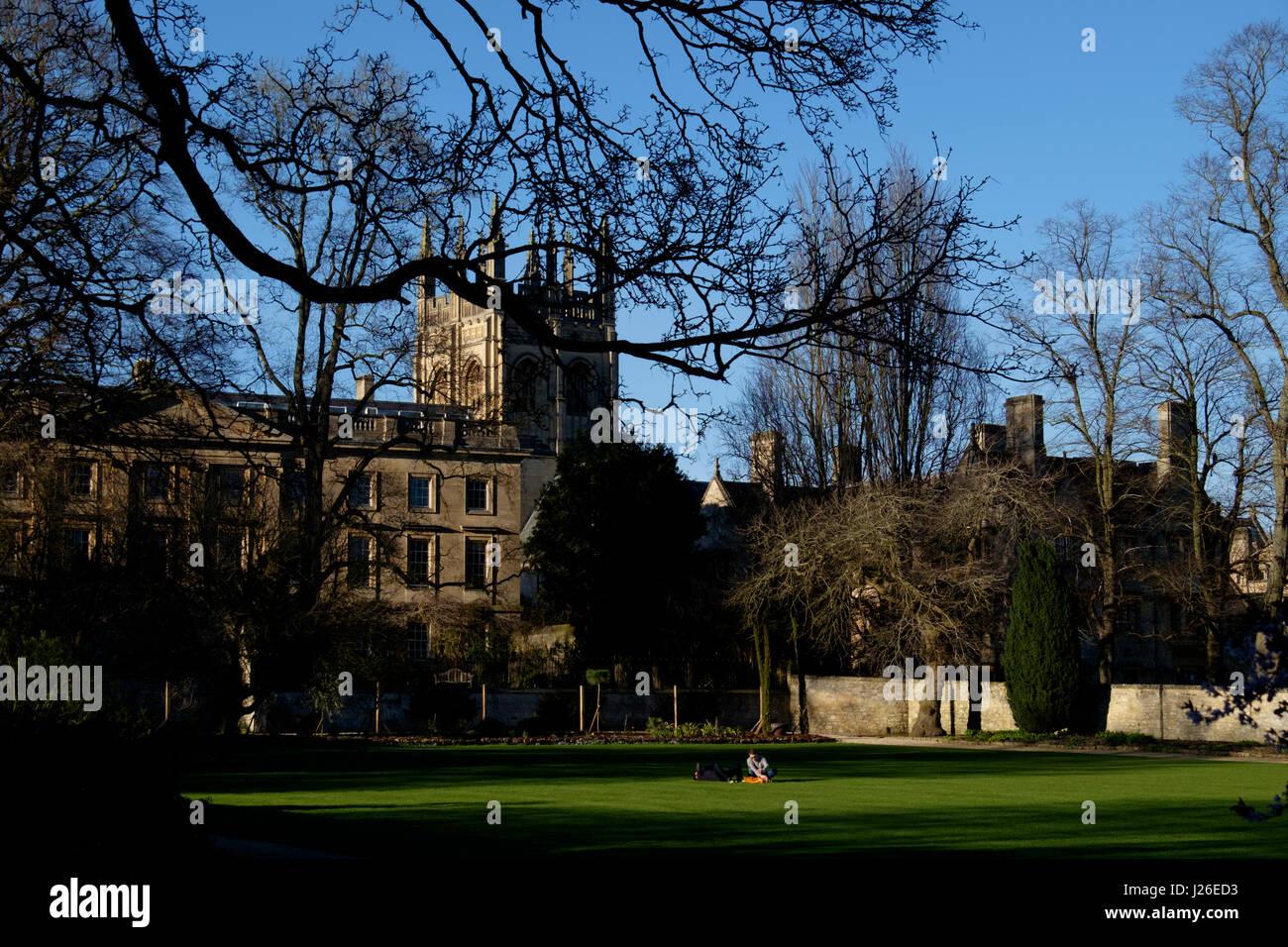 Corpus Christi College in Oxford, Oxfordshire, England, United Kingdom - Stock Image