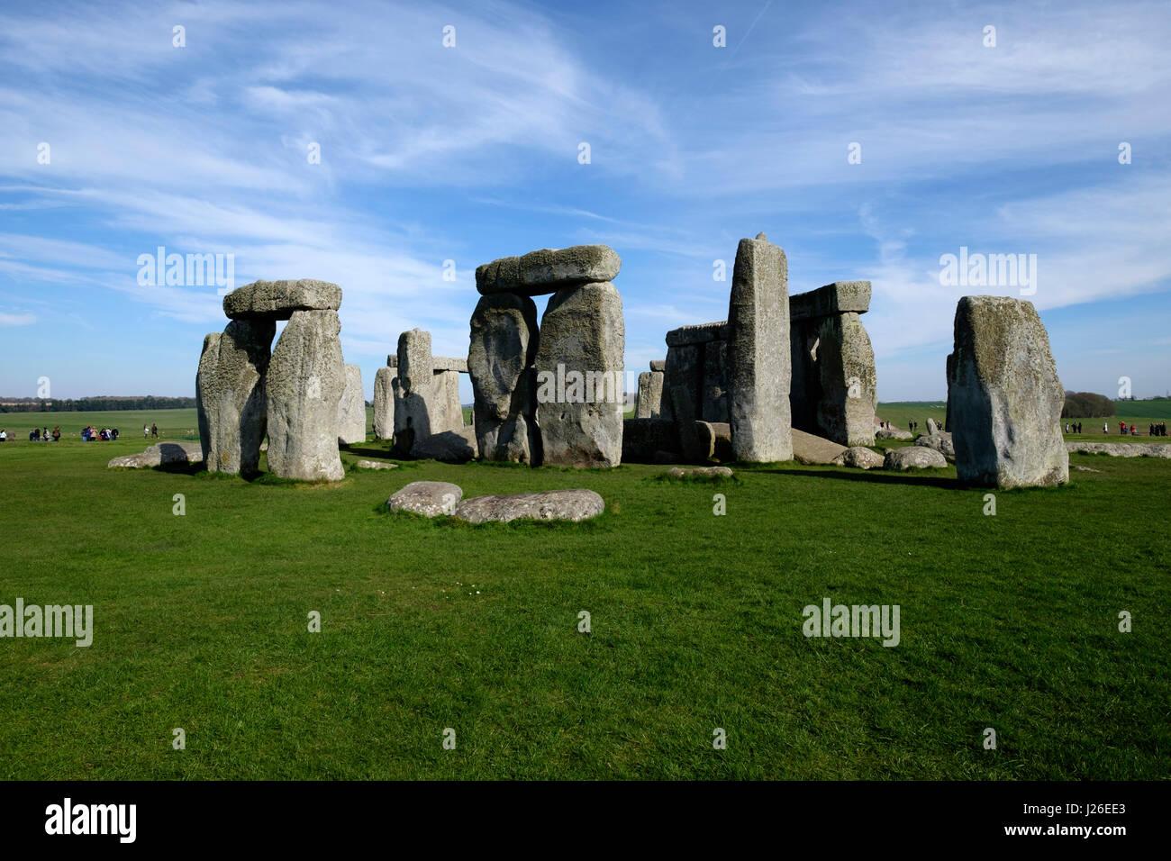 Stonehenge prehistoric monument in Wiltshire, England Stock Photo