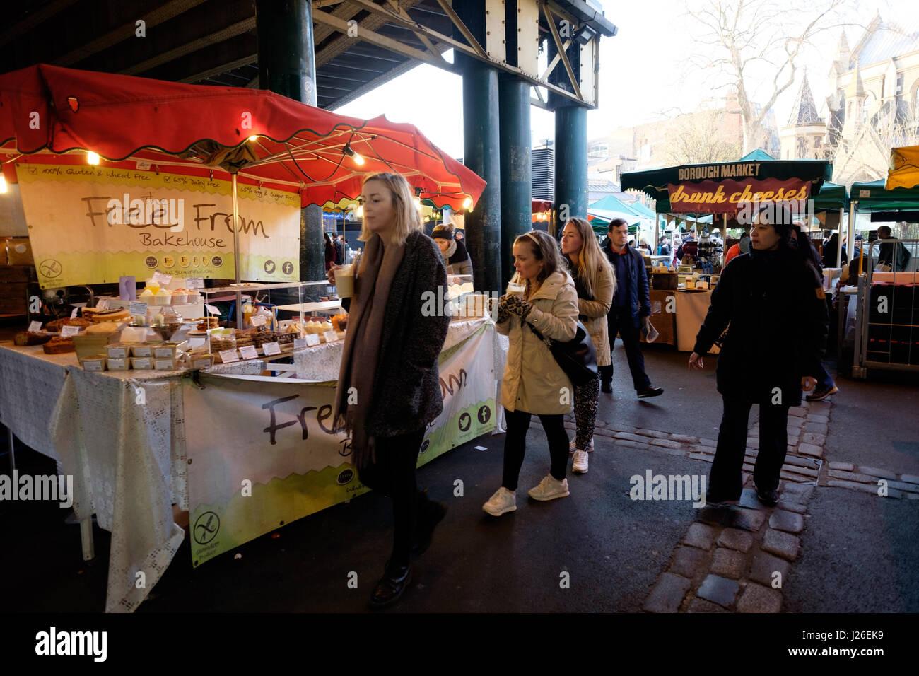 Borough Market, London, England, UK, Europe - Stock Image