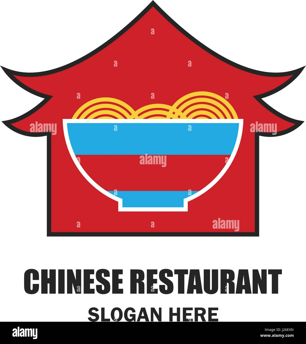 Chinese Restaurant Chinese Food Logo With Text Space For Your Stock Vector Image Art Alamy