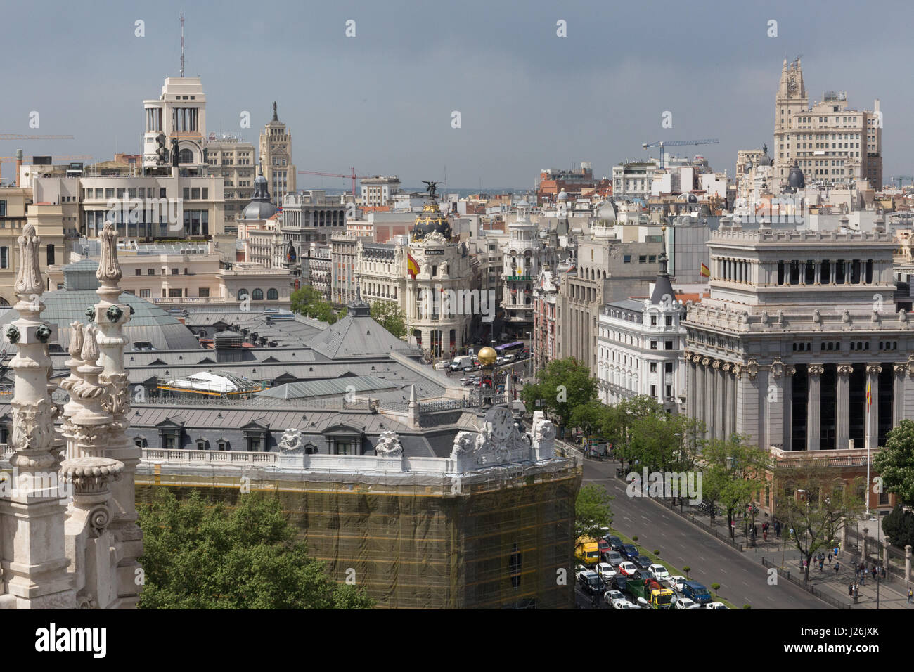 Rooftop Views Of The City Of Madrid From The Palacio De