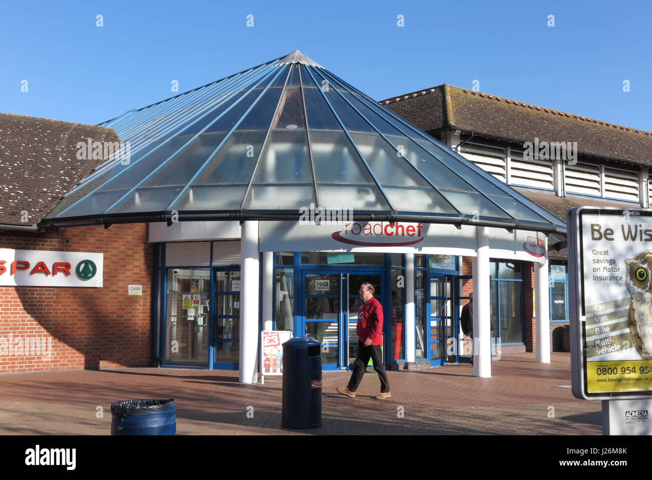 Roadchef Strensham Motorway Services, M5 Southbound, Worcestershire. - Stock Image