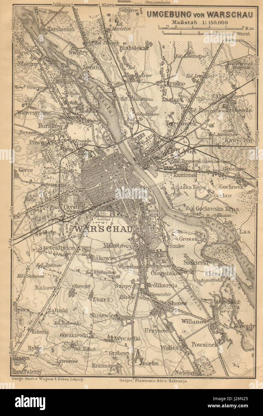 Warsaw Map Old Stock Photos & Warsaw Map Old Stock Images ... on