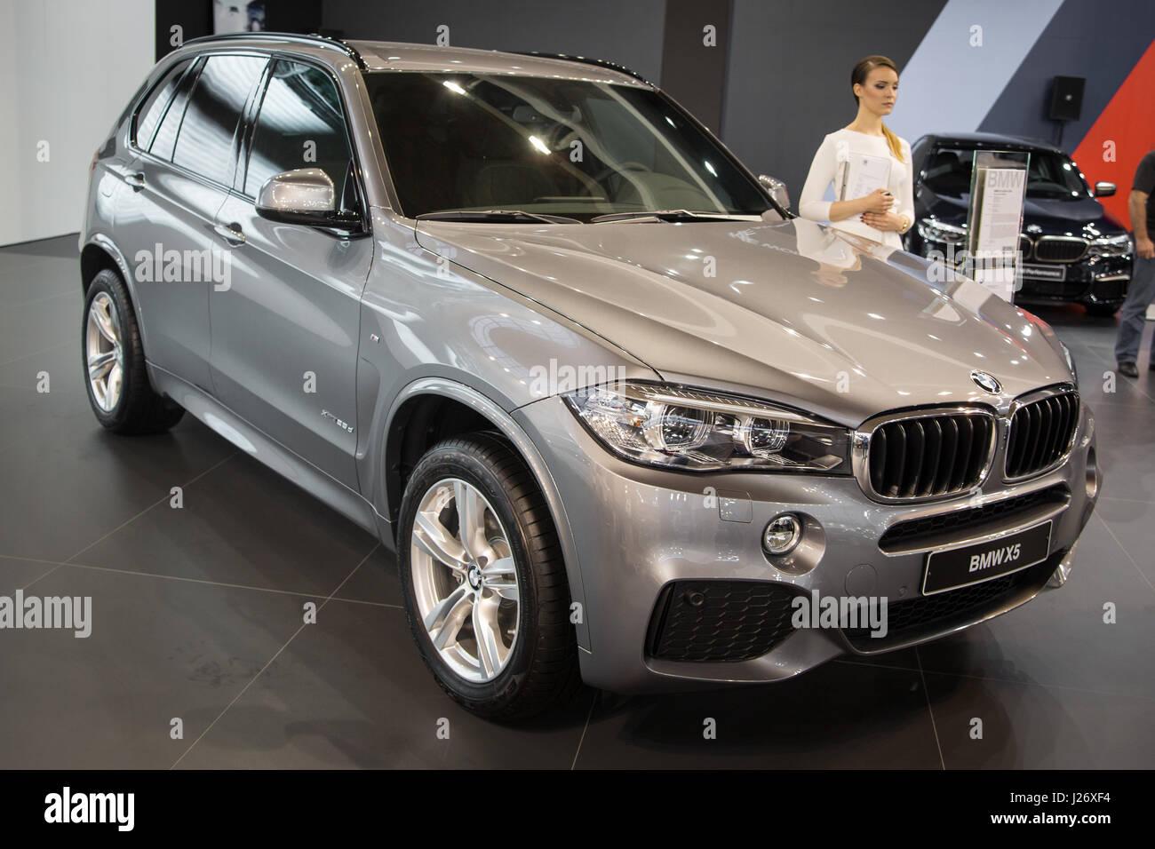 Belgrade, Serbia - March 23, 2017: New BMW X5 presented at Belgrade 53th International Motor Show - MSA (OICA). - Stock Image