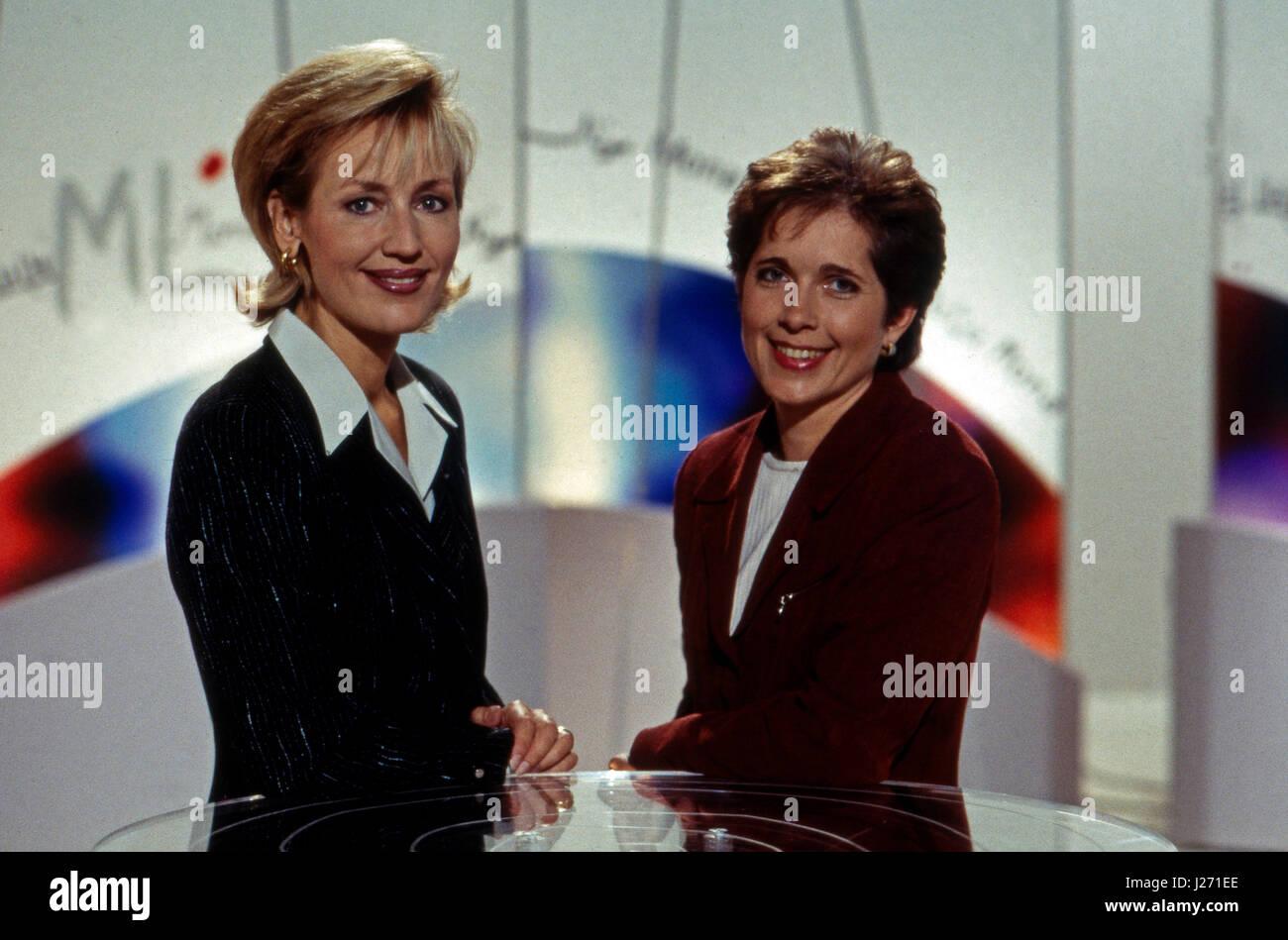 ML Mona Lisa, Fraueninformationssendung, Deutschland 1997, Moderation: Petra Gerster (links), Conny Hermann - Stock Image