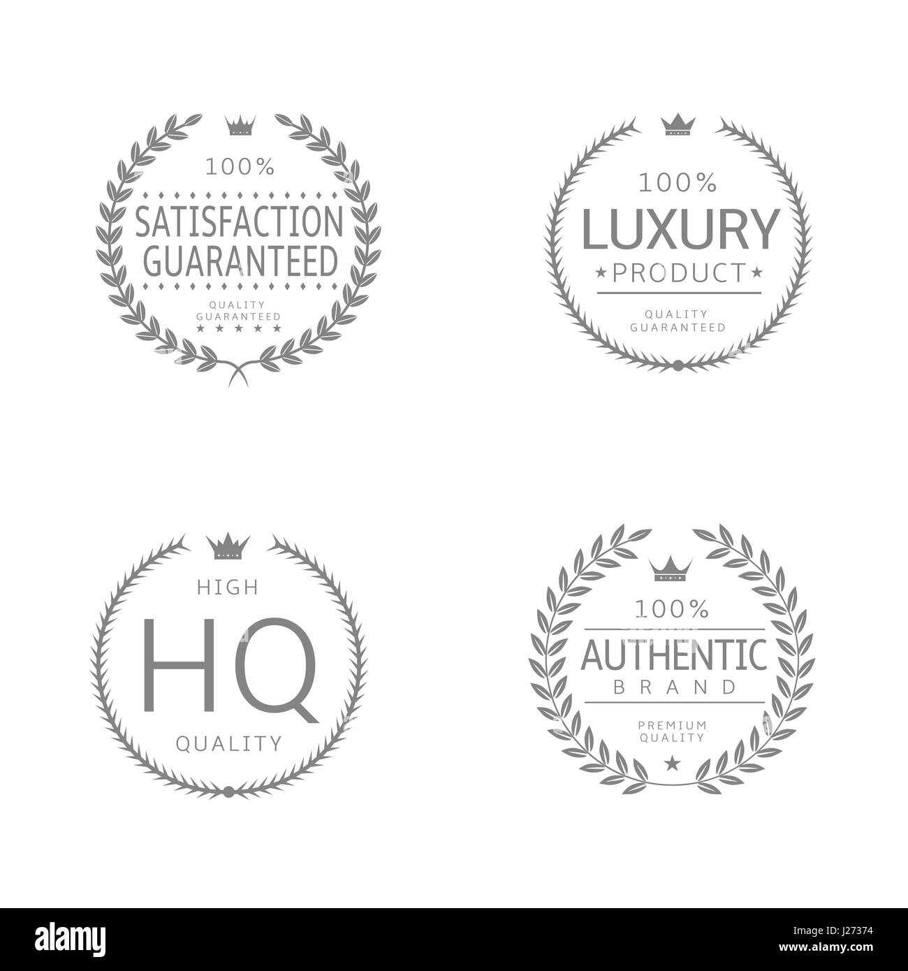 Laurel wreath icons - Stock Image
