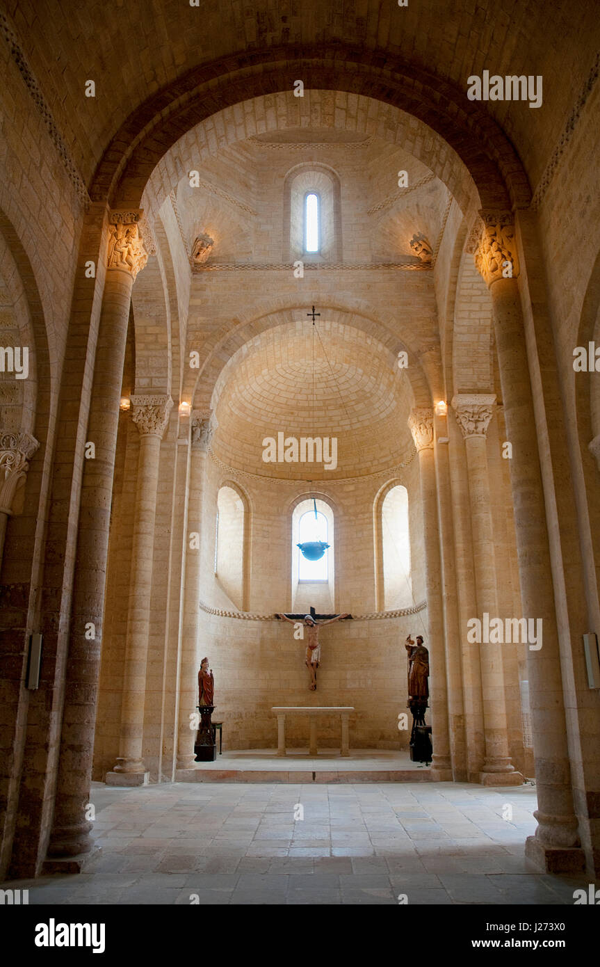 San Martin church, indoor view. Frómista, Palencia province, Castilla León, Spain. - Stock Image
