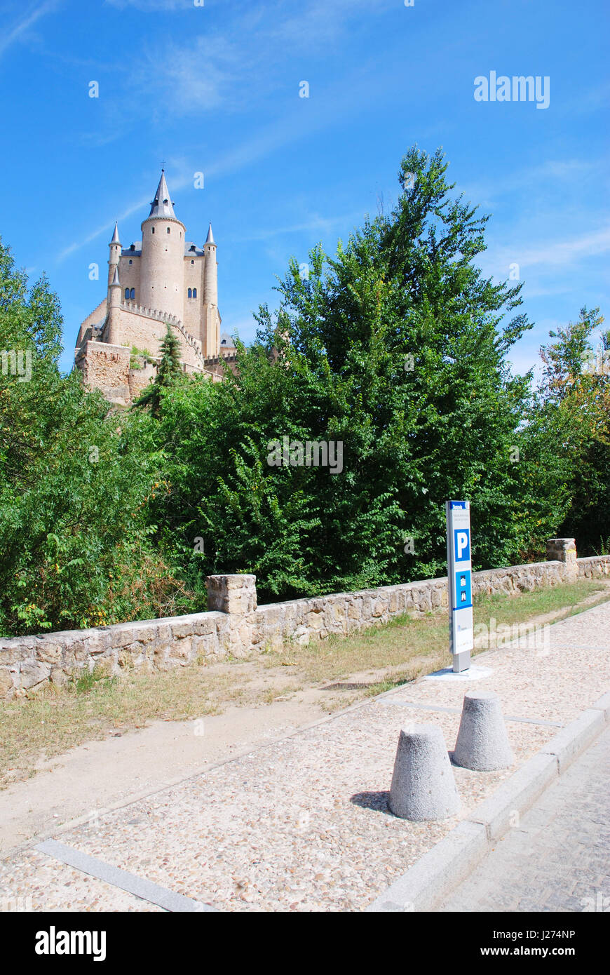 The Alcazar. Segovia, Spain. - Stock Image