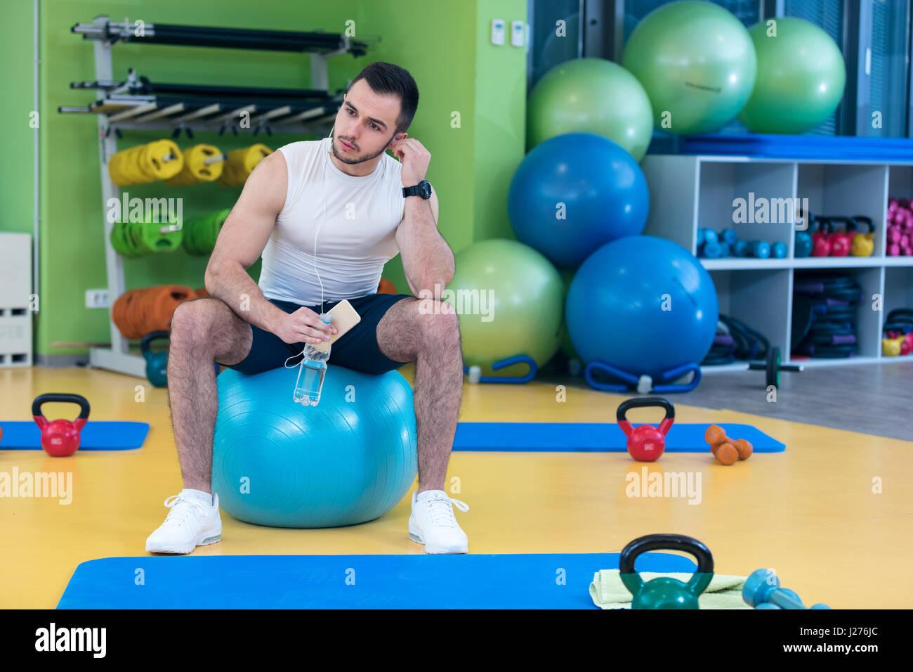 Gym Ball Stock Photos & Gym Ball Stock Images - Alamy