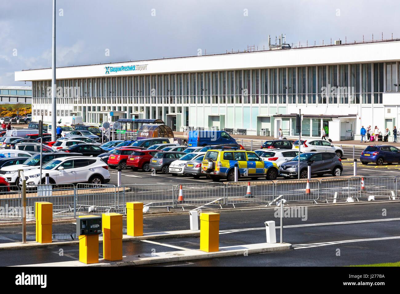 Glasgow Prestwick Airport, Prestwick, Ayrshire, Scotland, UK Stock Photo