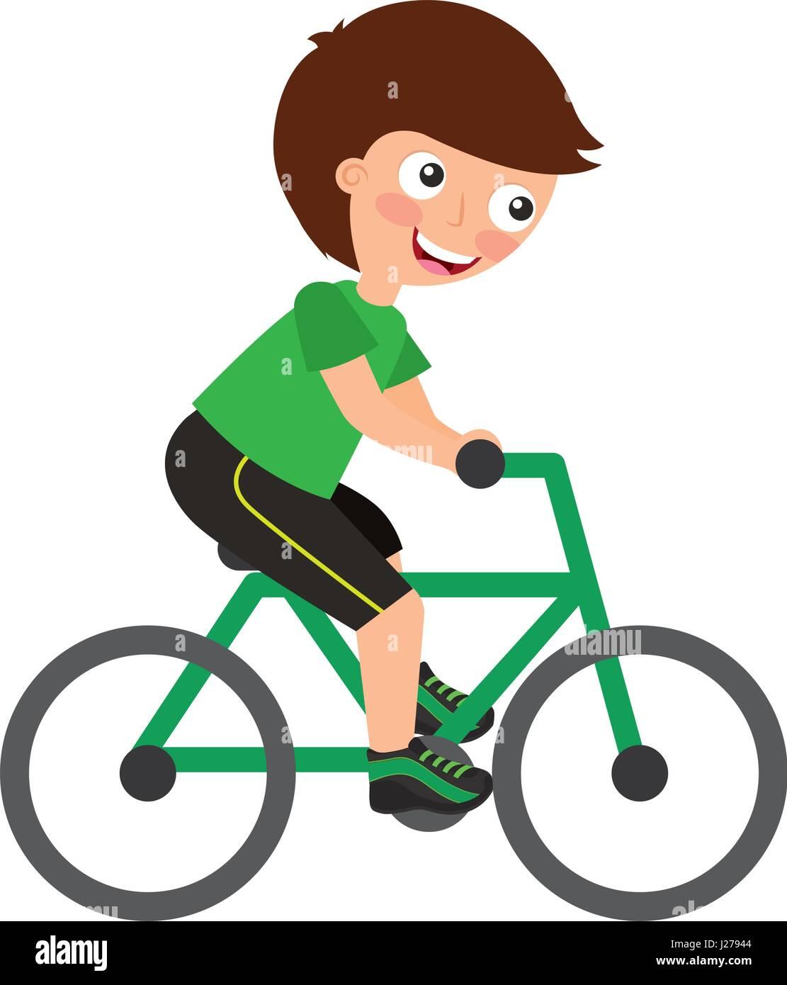 A Boy Riding A Bike Cheap Online