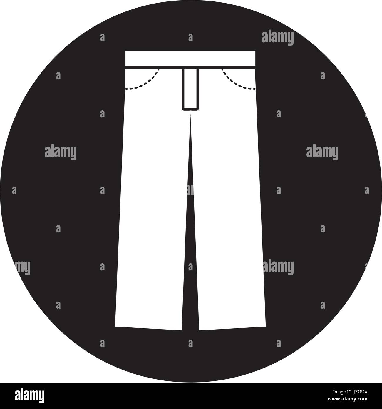 masculine pants clothes icon - Stock Image