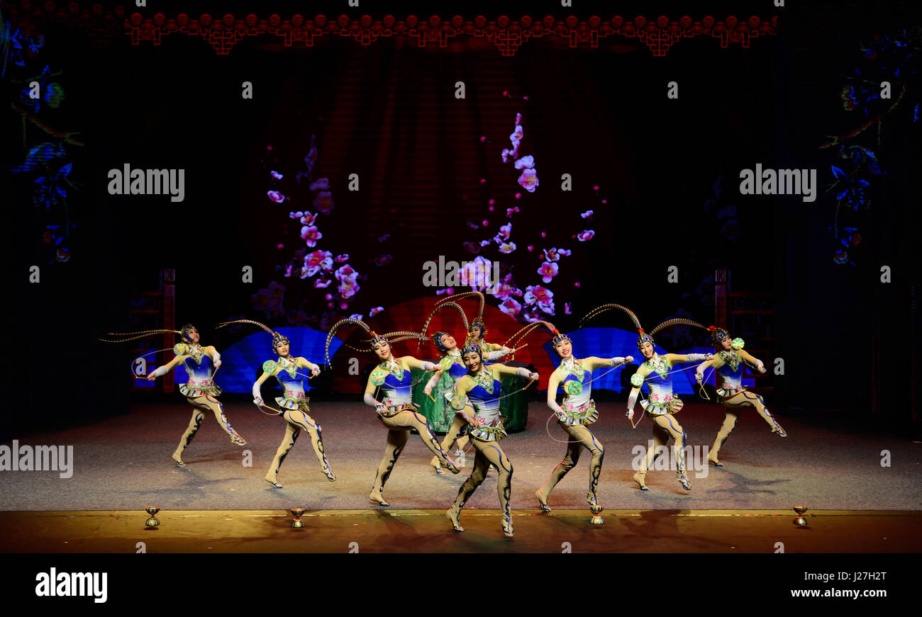 Pretoria, South Africa. 25th Apr, 2017. Chinese acrobats perform acrobatics Diabolo 'Beauty and Liveliness' - Stock Image