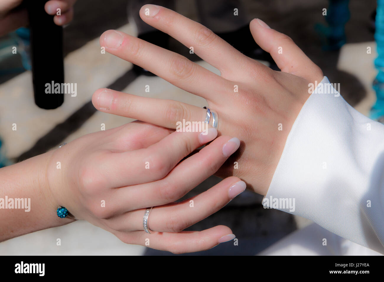 Bride Hand Diamond Ring On Stock Photos & Bride Hand Diamond Ring On ...
