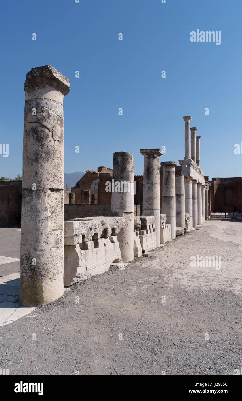 Pompeii ruins, UNESCO World Heritage Site, Campania region, Italy Stock Photo