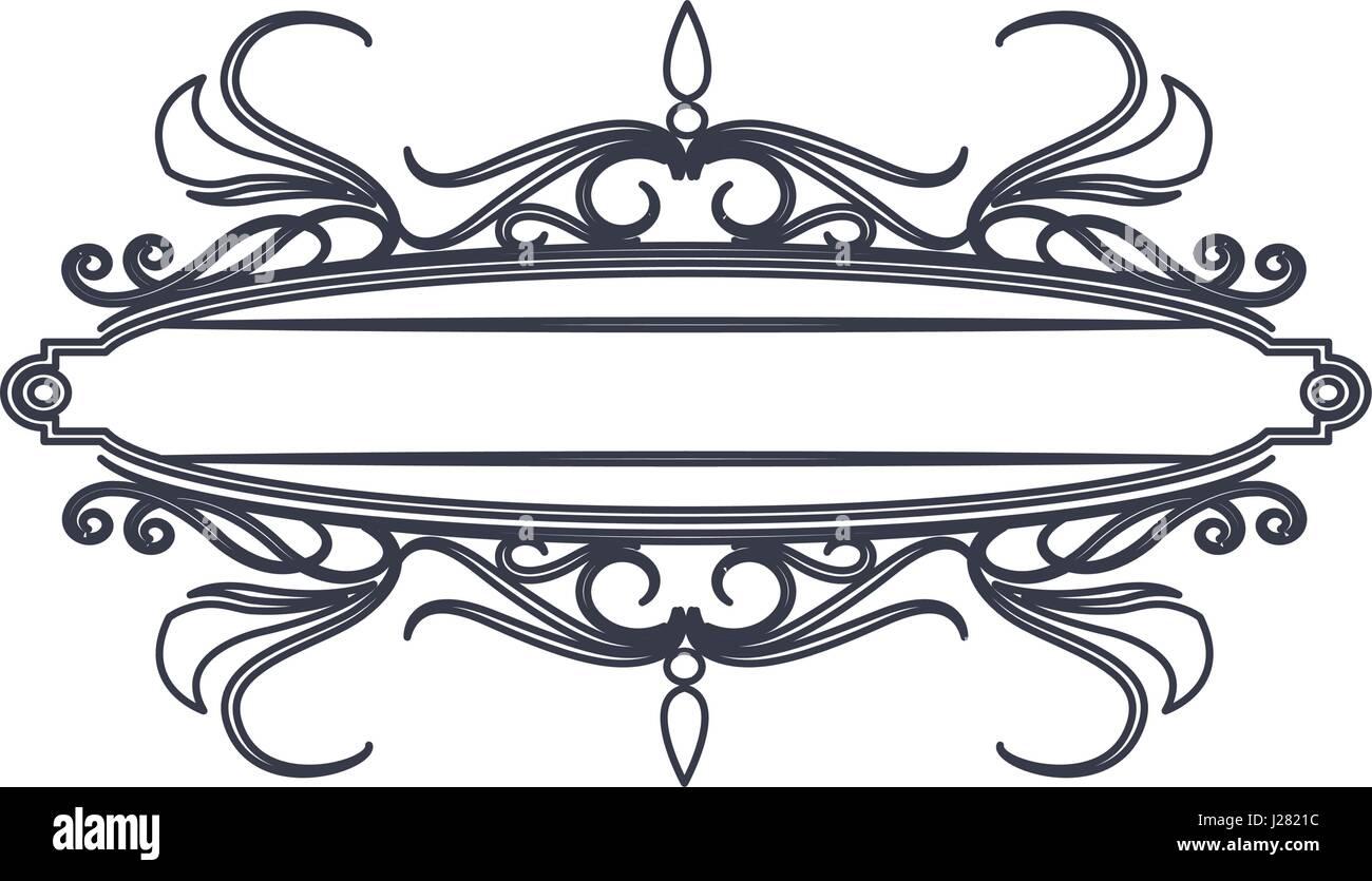 classic signboard swirls decoration template stock vector art
