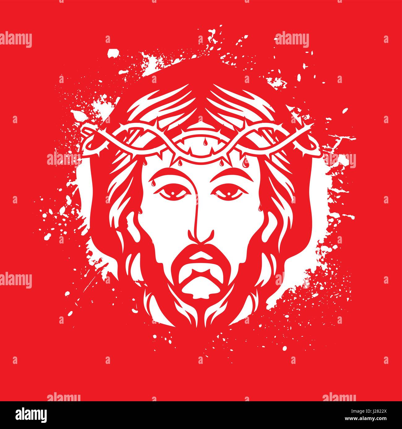 Messiah Jesus Stock Vector Images - Alamy
