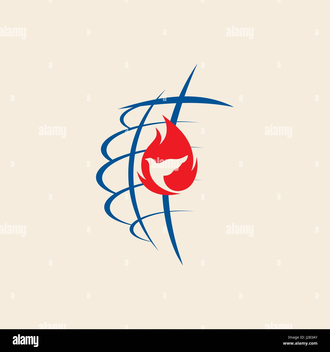 Church logo the cross of jesus the globe and the dove stock vector church logo the cross of jesus the globe and the dove altavistaventures Choice Image