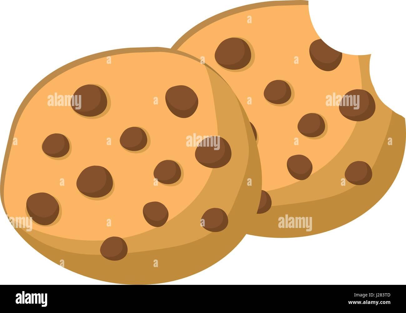 delicious fresh cookies bakery snack - Stock Vector