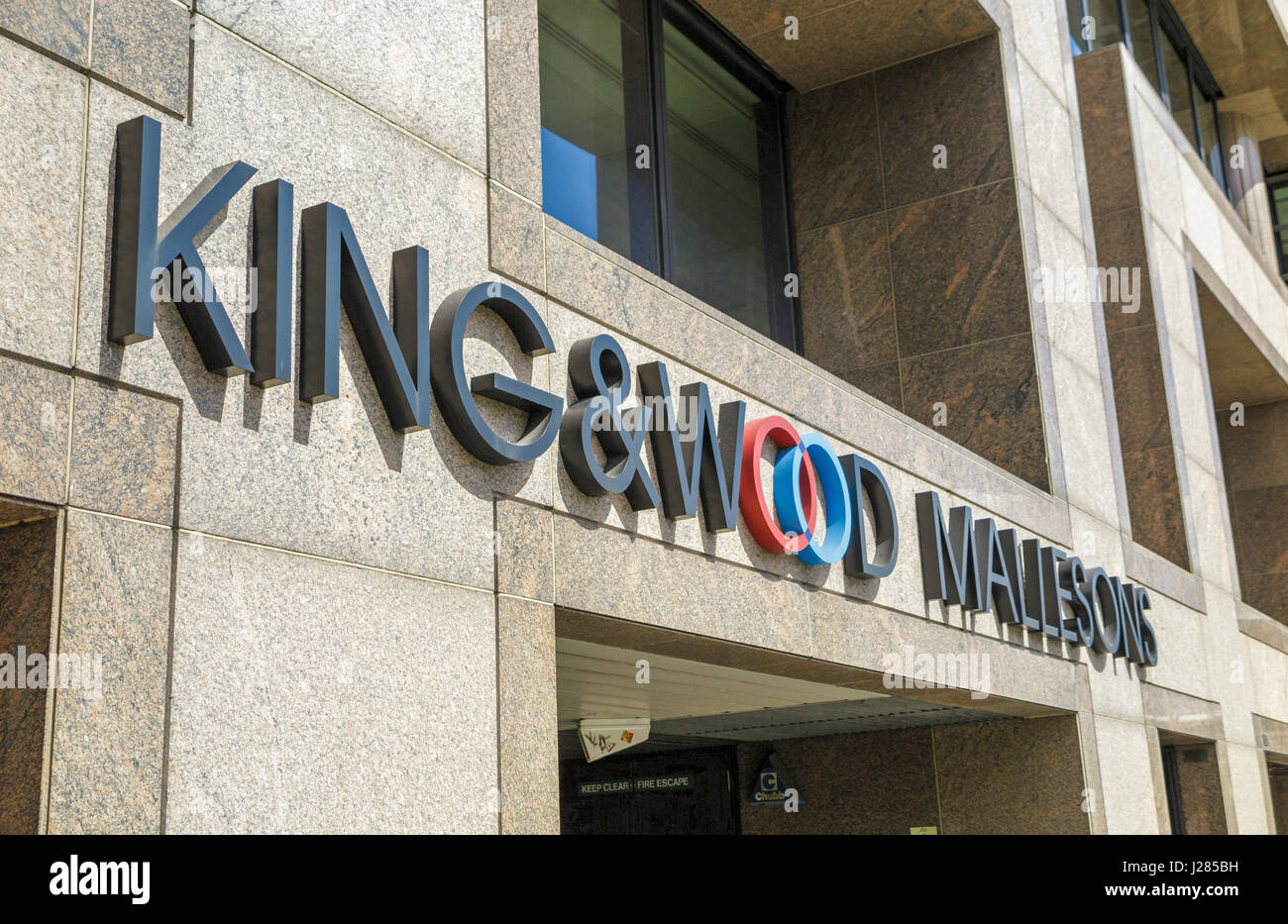 London offices of King & Wood Mallesons LLP, multinational law firm, headquartered in Hong Kong, Three Cranes - Stock Image